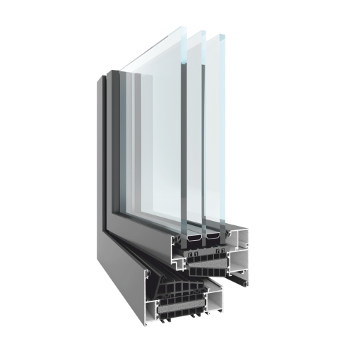 Aluminium windows based on TM 102HI